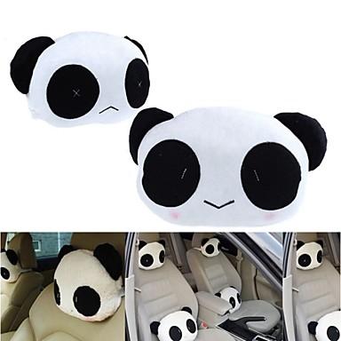 ziqiao 1 pari söpö kaunis panda kuvio turvaistuimen niska / pää tyyny pehmeä selkätyyny niskatuki niska tyyny