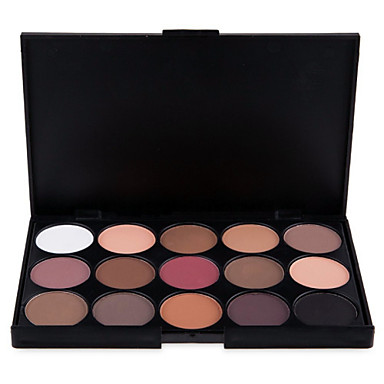 15 Lidschattenpalette Trocken / Matt / Schimmer Lidschatten-Palette Puder NormalHalloween Make-up / Party Make-up / Alltag Make-up / Feen