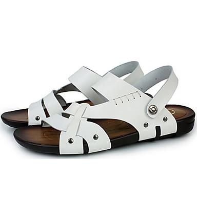 les de sandales de cuir chaussures de les confort de l'eau au printemps et en été, blanc / noir / brun pâle 9f5295