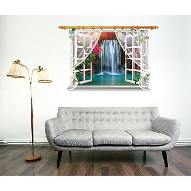 דוממים נוף מדבקות קיר מדבקות קיר תלת מימד מדבקות קיר דקורטיביות חוֹמֶר ניתן להסרה ניתן למיקום מחדש קישוט הבית מדבקות קיר