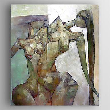 ציור שמן צבוע-Hang מצויר ביד - אנשים מודרני בַּד