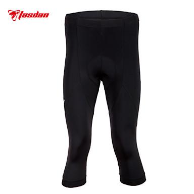 TASDAN Calças 3/4 Para Ciclismo Homens Moto 3/4 calças justas Shorts Acolchoados Calças Roupa de Ciclismo Secagem Rápida Respirável