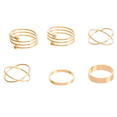 Χαμηλού Κόστους Μοδάτο Δαχτυλίδι-Γυναικεία X δακτύλιο Κολιέ / δακτύλιος Go Rings Κράμα Πριγκίπισσα κυρίες Unusual Μοναδικό Κλασσικό Μοδάτο Δαχτυλίδι Κοσμήματα Χρυσαφί Για Πάρτι Πάρτι / Βράδυ Καθημερινά Causal 7 / Ζιρκονίτης