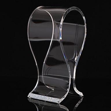 beliebte Acrylmaterial stehen für Kopfhörer tranparent
