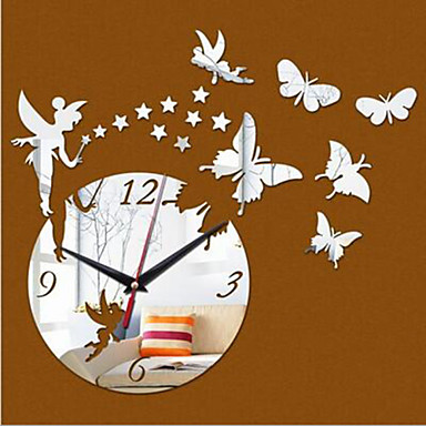 라운드 현대/현대 / 캐주얼 / 오피스/ 비즈니스 벽 시계,동물 / 만화 플라스틱 40*60cm