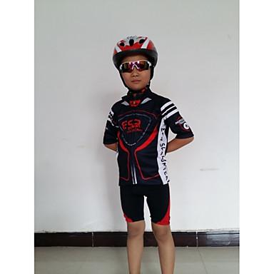 GETMOVING Kurzarm Fahrradtriktot mit Fahrradhosen - Schwarz-rot Schwarz/Rrot Fahhrad Shorts/Laufshorts Trikot/Radtrikot Kleidungs-Sets,