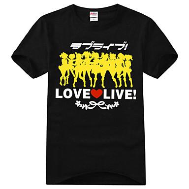 Inspirado por Amar viver Kotori Minami Anime Fantasias de Cosplay Cosplay T-shirt Estampado Manga Curta Camiseta Para Unisexo