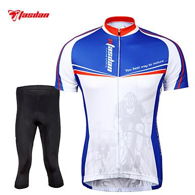 TASDAN Pyöräily jersey ja trikoot Miesten Lyhyt hiha Pyörä Shortsit Jersey Legginsit Pyöräily Sukkahousut VaatesetitNopea kuivuminen