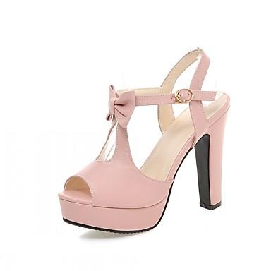 Ženske Djevojčice Cipele Umjetna koža Ljeto Stiletto potpetica Mašnica Za Vjenčanje Zabava i večer Obala Crn Plava Pink