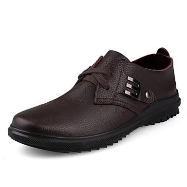 男性用 靴 レザー 春 / 秋 コンフォートシューズ オックスフォードシューズ ブラック / Brown