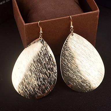 Damen Tropfen-Ohrringe - Personalisiert, Erklärung Silber / Golden Für Hochzeit / Party / Alltag