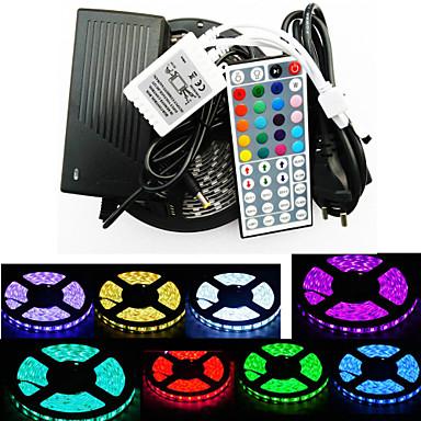 z®zdm vedenpitävä 5m 300x5050 SMD RGB LED nauhat valo ja 44key kaukosäädin (ac110-240v)