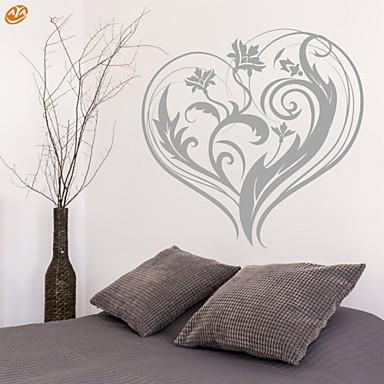 로맨스 / 패션 / 플로럴 벽 스티커 플레인 월스티커,PVC M:42*43cm / L:55*56cm