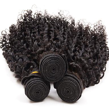 Kıvırcık insan saç örgüleri brezilya dokusu 100 8-26 insan saç uzantıları
