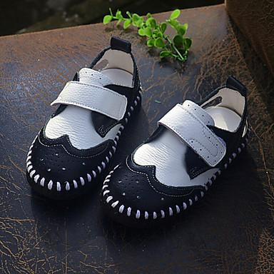 Za dječake Za djevojčice Sandale Proljeće Ljeto Jesen Mokasine Koža Aktivnosti u prirodi Ležeran Ravna potpetica Kopčanje na kukicuCrna