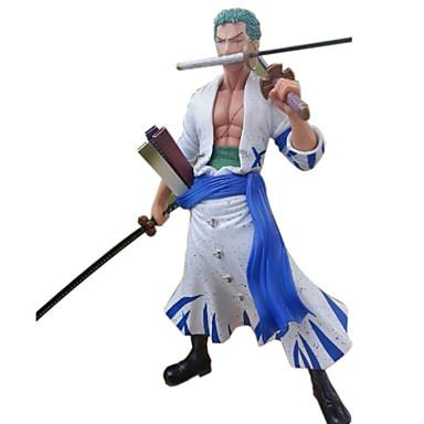 애니메이션 액션 피규어 에서 영감을 받다 One Piece Roronoa Zoro 30 CM 모델 완구 인형 장난감