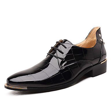 Men's Formal Shoes Microfiber Spring / Fall Business Oxfords Black / Red / Royal Blue / Wedding / Party & Evening / Lace-up / Party & Evening / Comfort Shoes