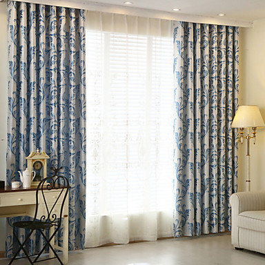 cheap Window Treatments-Blackout Curtains Drapes Kids Room Polyester Jacquard