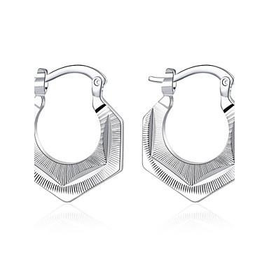 Feminino Brincos Curtos Brincos com Clipe Europeu bijuterias Prata de Lei Cobre Prata Chapeada Forma Geométrica Jóias Para Casamento