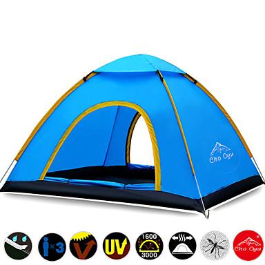 3-4 Pessoas Tenda Triplo Barraca de acampamento Um Quarto Tenda Automática Prova-de-Água Secagem Rápida Resistente Raios Ultravioleta Á