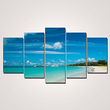 Pingoitetut kanvasprintit Moderni 5 paneeli Horizontal Painettu Wall Decor For Kodinsisustus