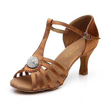 נשים לטיני סטן עור מגפיים סנדלים נעלי ספורט חיצוני עקב נמוך שחור חום ללא התאמה אישית