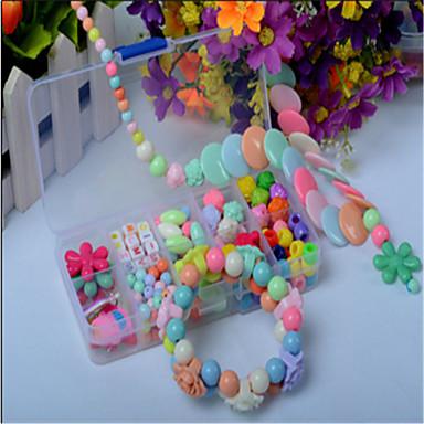 Kymmenen, värikäs DIY käsintehty helmillä puku lasten koulutus leluja kaulakoru lahja