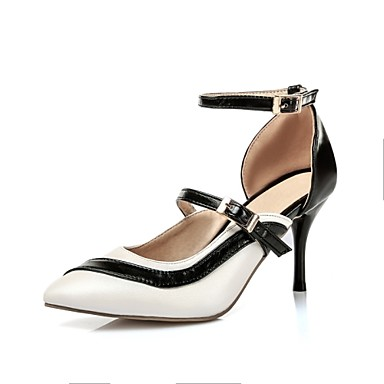 נעלי נשים-בלרינה\עקבים-דמוי עור-עקבים / שפיץ ושני חלקים / שפיץ-ורוד / סגול / לבן / זית-משרד ועבודה / שמלה / מסיבה וערב-עקב סטילטו