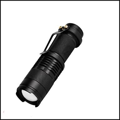 LED svjetiljke LED 350 Lumena 3 Način LED 14500 AAA Mini Podesivi fokus Otporan na udarce Vodootporno Odsjeći Hitan Male veličine Džep
