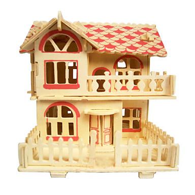 직소 퍼즐 3D퍼즐 나무 퍼즐 빌딩 블록 DIY 장난감 집 나무