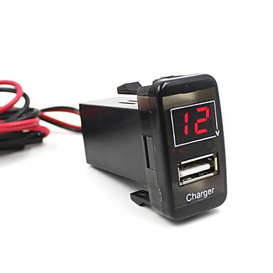 המכונית 5V 2.1a מטען לטלפון מד מתח יציאת USB לוח מחוונים עבור ויגו טויוטה מעולה
