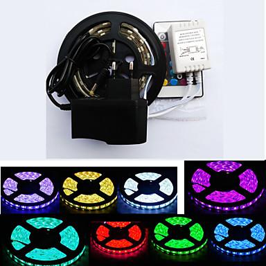 ZDM® 1m Conjuntos de Luzes 300 LEDs 1 controlador remoto de 24Keys 1 x adaptador de 12V 3A RGB Cortável Impermeável Auto-Adesivo Adequado