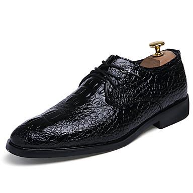 בגדי ריקוד גברים עור פטנט אביב / סתיו נעליים פורמלית נעלי אוקספורד שחור / מסיבה וערב