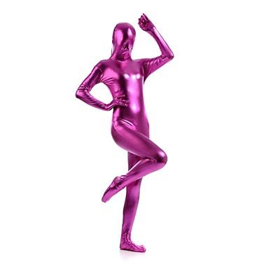 Shiny Zentai Anzüge Ninja Zentai Kostüme Cosplay Kostüme Fuchsia Solide Gymnastikanzug/Einteiler Zentai Kostüme Elasthan Glänzend