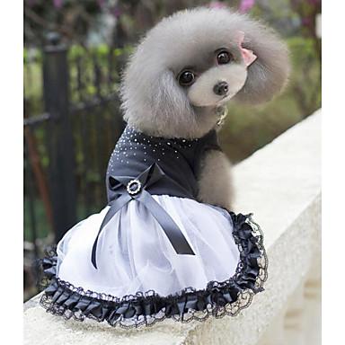 개 드레스 화이트 강아지 의류 여름 / 모든계절/가을 리본매듭 패션 / 웨딩