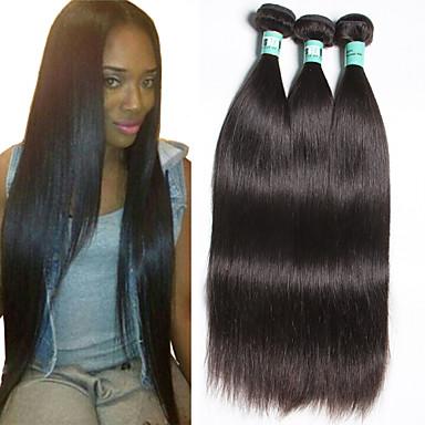 3 Pcs/Lot 8-30inches Peruvian Virgin Hair Straight Unprocessed Virgin Hair Peruvian Human Hair Weave Bundles