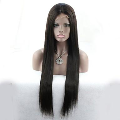 silkki suora tukku halpa luonnollinen hiusraja 100% käsittelemättömiä neitsyt malaysian hiuksista täynnä pitsiä peruukki kanssa vauvan