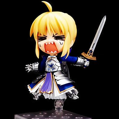 Figuras de Ação Anime Inspirado por Fate / Stay Night Saber PVC 10cm CM modelo Brinquedos Boneca de Brinquedo