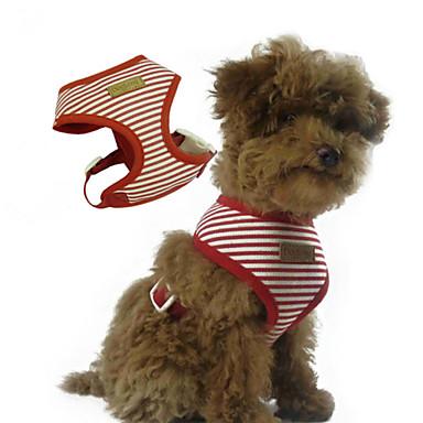 Pes postroje Nastavitelná / Zatažitelný S proužky Látka Červená Modrá