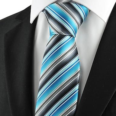 Prugasti uzorak-Kravata(Siva / Plava,Poliester)