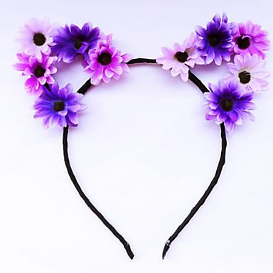 voordelige Dames Sieraden-Dames Bloemen Bloemenstijl Vintage Stof Legering Haarbanden Fascinators Hoofd Sieraden Bruiloft Feest