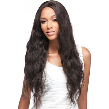נשים פיאות תחרה משיער אנושי שיער אנושי תחרה מלאה חזית תחרה חלק קדמי תחרה ללא דבק 130% 150% צְפִיפוּת ישר פאה Jet Black שחור חום כהה חום
