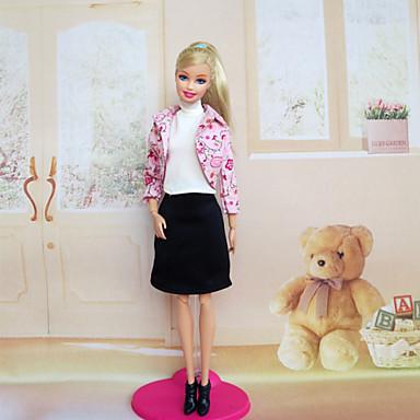 Fritid Kjoler Til Barbiedukke Stretch sateng Lerret Kjole Til Jentas Dukke