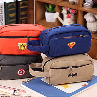 블루 / 그레이 / 오렌지 / 베이지-큐트 / 사업 / 다기능-직물-문구류 가방