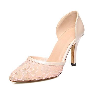 Damen Schuhe Kunstleder Frühling Sommer D'Orsay und Zweiteiler Stöckelabsatz für Hochzeit Kleid Party & Festivität Schwarz Rosa Hautfarben