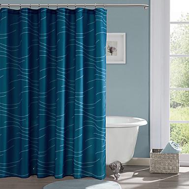Duschvorhänge Modern Polyester Streifen Maschinell gefertigt