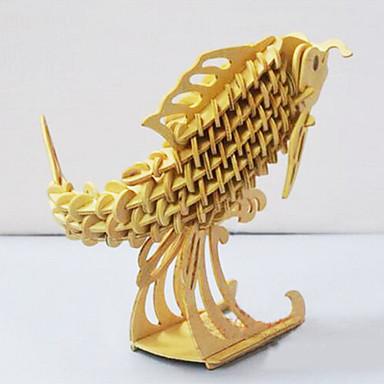 Quebra-Cabeças 3D Quebra-Cabeça Quebra-Cabeças de Madeira Brinquedos Peixes Faça Você Mesmo Madeira Peças