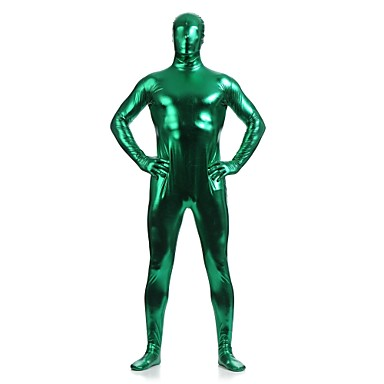 Zentai Anzüge Shiny Zentai Anzüge Ninja Zentai Kostüme Cosplay Kostüme Grün Solide Gymnastikanzug / Einteiler Zentai Kostüme Elasthan