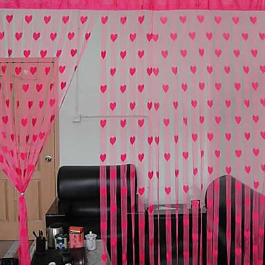 Rypytysnauha One Panel Window Hoito Suunnittelija Sydämmet Living Room Polyesteri materiaali verhot Drapes Kodinsisustus