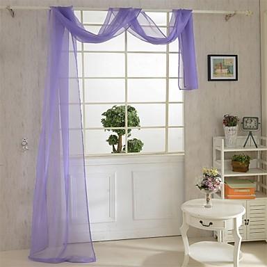 One Panel Window Hoito Kantri , Yhtenäinen Living Room Polyesteri materiaali Läpinäkyvät verhot Shades Kodinsisustus For Ikkuna